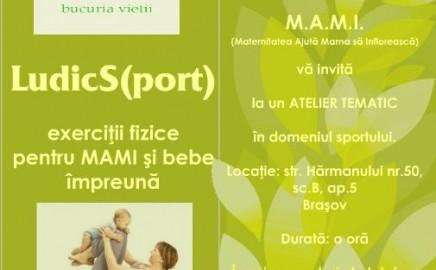 LudicS(port) – exerciţii fizice pentru MAMI şi bebe împreună